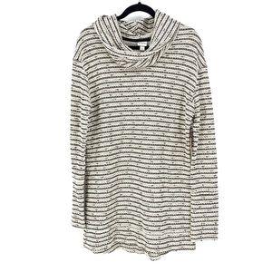 Merona Sz L Boucle Striped Knit Sweater Tunic NEW